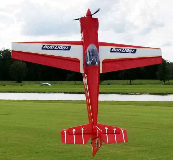 AEROMODELO 104 LASER EXP TRADITIONAL RED SCHEME 120CC EXTREME FLIGHT